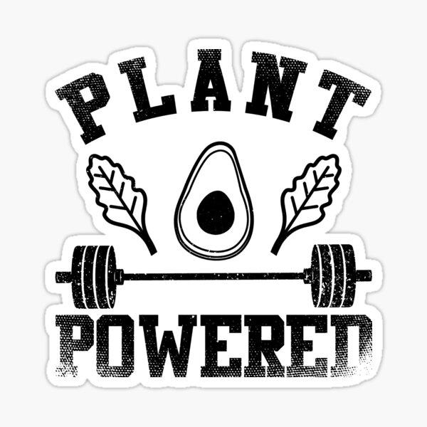 Plant Powered Weightlifter Sticker