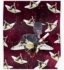 Graduate Puppy Dog On Sundae In Space Poster