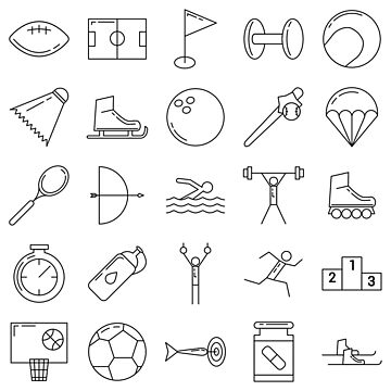 Sport Pictograms Olympic Style Pattern by Krukowski