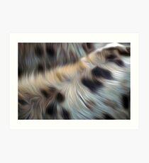 Hyena fur oil paint effect Art Print