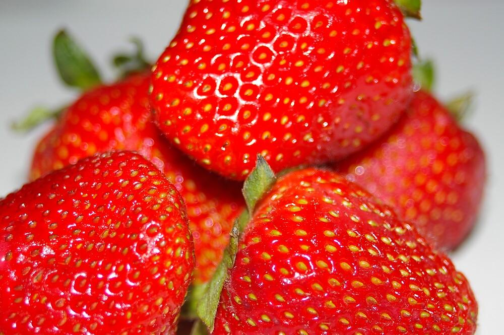 strawberries by janfoster