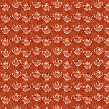 Vintage Teapot Pattern by illustrateme