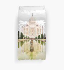 The Taj Mahal at Sunrise in November  Duvet Cover