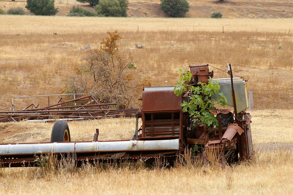 old farm equipment by janfoster