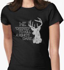 Wage mich Tailliertes T-Shirt für Frauen