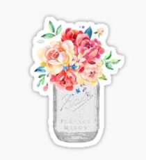 Floral Mason Jar Sticker