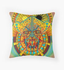 58 Fragmented mind - colorful Throw Pillow