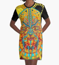 58 Fragmented mind - colorful Graphic T-Shirt Dress