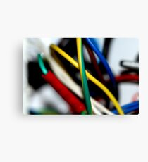 Cut the green wire.. or the yellow wire? Canvas Print