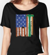 Irish American Carpenter Flag Women's Relaxed Fit T-Shirt