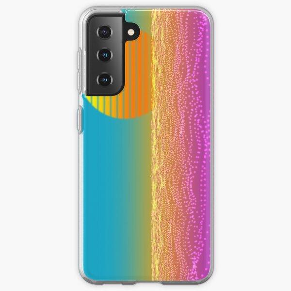 80s Retro Sun and Waves Sexy, Lush Samsung Galaxy Soft Case