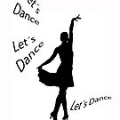 Let´s dance. Latin dancer silhouette by GemaIbarra