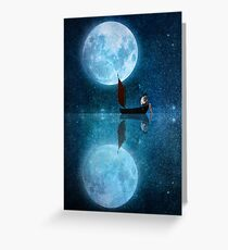 The Moon and Me Greeting Card