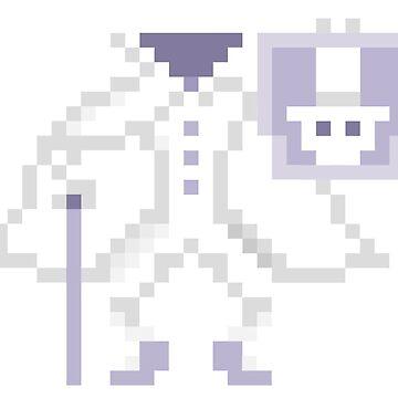 8-bit Hatbox Ghost - Haunted Mansion by luffans