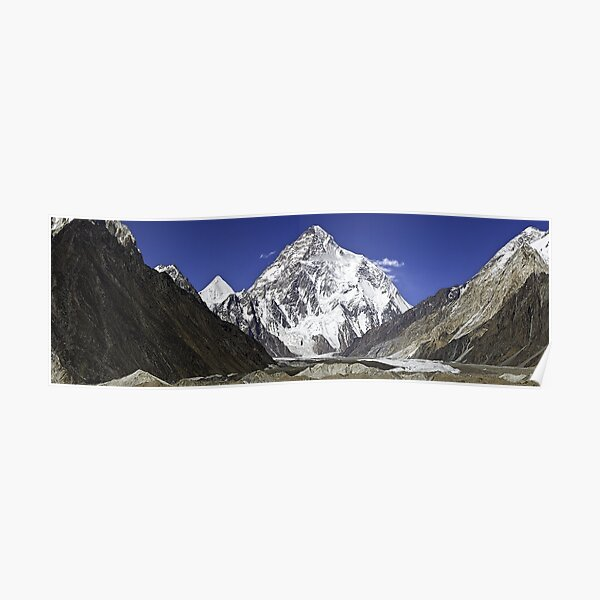 Framed Print K2 the World's Most Dangerous Mountain Picture Poster Snow Art