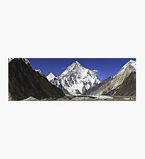 Lámina fotográfica Panorama de K2, Concordia, Karakorum