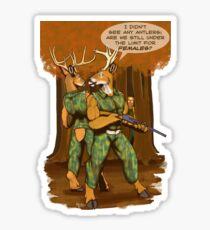 No Antlers Sticker