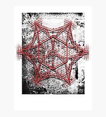 Electro mandala #2 Photographic Print