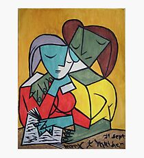 Two girls reading - Pablo Picasso Photographic Print