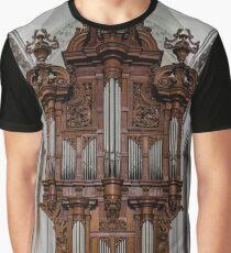 Belgian abbey Floreffe interior panoramic view, beautiful wooden decoration, Belgium Graphic T-Shirt