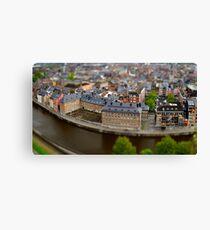 Roofs of Namur beautiful high resolution panoramic view, Belgium Canvas Print