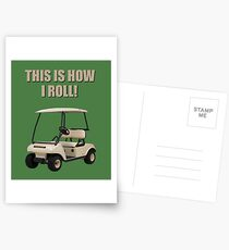 This is How I Roll - Golf Cart Pun Postcards