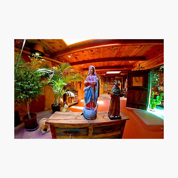 MOTHER MARY AND SAINT FRANCIS. Photographic Print