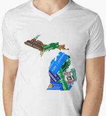 Pure Michigan Men's V-Neck T-Shirt