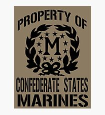 Property Confederate States Marines Photographic Print