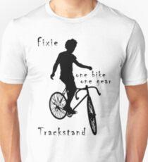 Fixie - one bike one gear - Trackstand (white) Unisex T-Shirt
