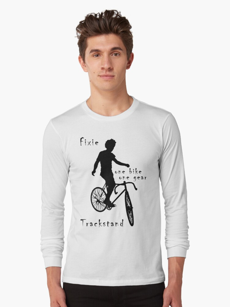 Fixie - one bike one gear - Trackstand (white) by Stefan Trenker