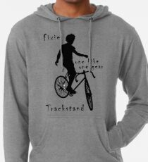 Fixie - one bike one gear - Trackstand (white) Lightweight Hoodie
