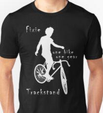 Fixie - one bike one gear - Trackstand (black) Slim Fit T-Shirt