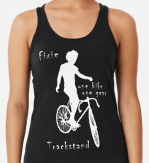 Fixie - one bike one gear - Trackstand (black) Racerback Tank Top