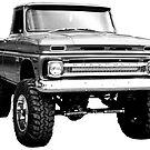 «Camioneta pick-up C10 1960-1966 levantada» de Statepallets