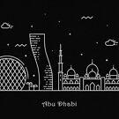 Abu Dhabi Minimal Skyline Line Art by A Deniz Akerman