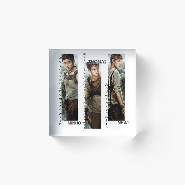 Maze Runner - Minho, Thomas, Newt Bloc acrylique
