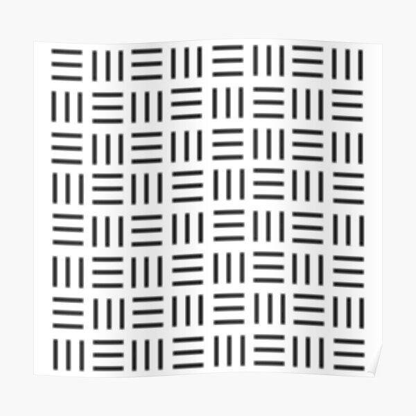 Digital mudcloth - Simple geometry Poster