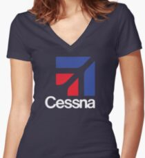Cessna aircraft USA Women's Fitted V-Neck T-Shirt