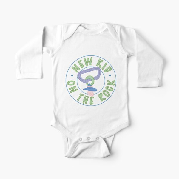 New Kid On The Rock Long Sleeve Baby One-Piece