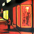 Washington Street in Red by Robert Reeves