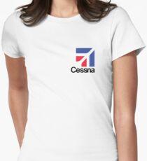 Camiseta entallada para mujer Aviones Cessna EE. UU.