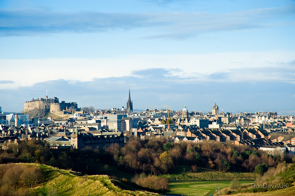 Edinburgh Castle from the Queen's Park by DonDavisUK