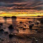 Sunrise At Seaham's Chemical Beach by Reg-K-Atkinson
