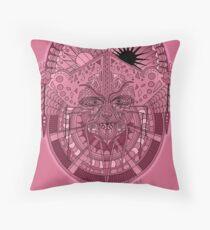 58 Fragmented mind - Rose Throw Pillow