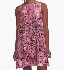 58 Fragmented mind - Rose A-Line Dress