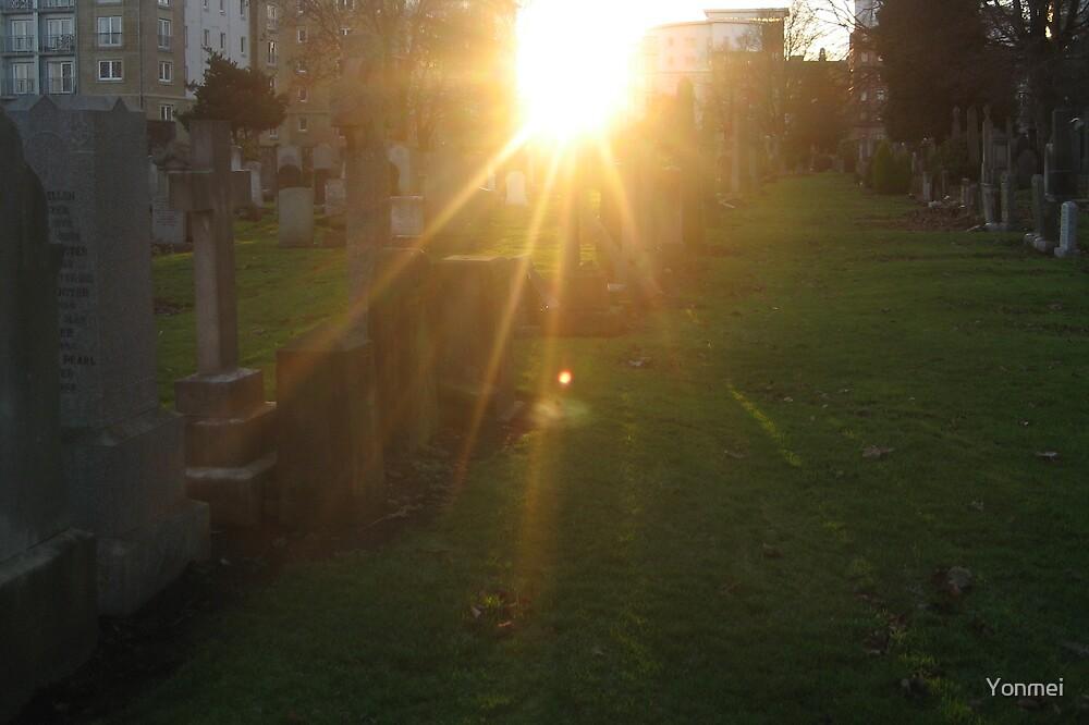 Sunset in Rosebank Cemetery by Yonmei