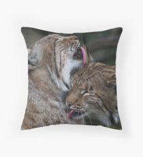 Caring for each other Throw Pillow