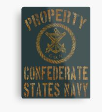 Property Confederate States Navy Light Design Metal Print