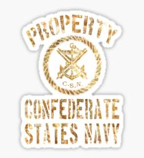 Property Confederate States Navy Light Design Sticker